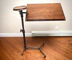 Rare Antique Victorian Bedside Reading Adapta Table By J Foot And Son London