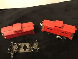 Gilbert American Flyer, 630 Reading Caboose, Used 2 Trains