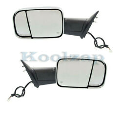 Ram 1500/2500/300 Truck Tow Mirror Power Heated W/signal, Puddle Lamp Set Pair