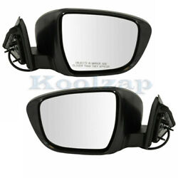 For 14-19 Rogue Rear View Door Mirror Power W/o Turn Signal And Camera Set Pair