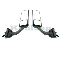 08-15 Freightliner Cascadia 113/125 Mirror Assembly Power Heat Chrome Set Pair