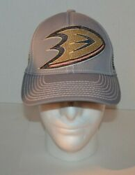 Mighty Ducks Hat By Reebok Gray Color Nhl Center Ice Collection Free Shipping