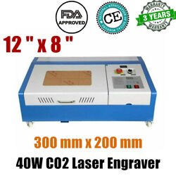 300 Mm X 200 Mm 12 X 8 40w Co2 Laser Engraver And Cutter Worktable Fda