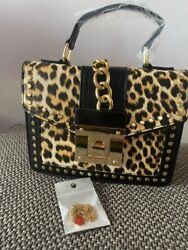Leopard Messenger Bags for Women Brand Decoration Ladies Party Handbags Purses $68.00
