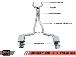 Awe Switchpathandtrade Exhaust System For 2019+ Mercedes-benz W205 Amg C63/s Sedan