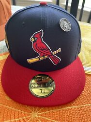 Hat Club St. Louis Cardinals Navy/red 2011 World Series Fitted Hat Size 7 1/2
