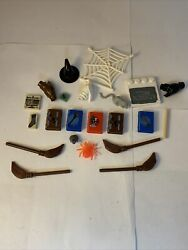 Vintage Lego Harry Potter Accessories Lot Great Condition. Books Brooms Wands
