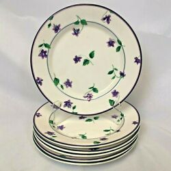 Lot Of 6 Waverly Garden Room Sweet Violet Salad Plates Super Nice Free Shipping
