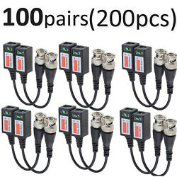 100 Pairs -xu45 Cctv Camera Passive Video Balun Bnc Twisted Pair Connector Cable