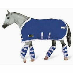 Breyer Traditional Blanket amp;amp Shipping Boots Horse Toy Accessory Set Blue 19