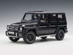 Mercedes-benz G63 Amg Gloss Black 118 Autoart 76322 Sold Out From Autoart Rare