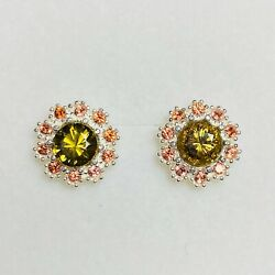 Natural Mali Grossular-andradite 925 Silver/ 9ct 14k 18k Gold 375 Studs Earrings