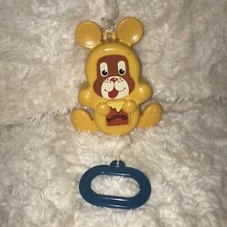 Vintage 1988 Musical Elc Early Learning Centre Baby Pull Moving Bear Cot Toy