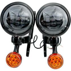 Rivco Products 4.5in. Led Auxiliary Lights With Turn Signals Mv195