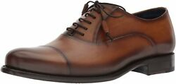 Mezlan Helios Mens Luxury Cap Toe Oxford Lace Ups - Exquisite Hand-burnished Cal