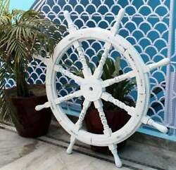 Premium Nautical Handcrafted Wooden Ship Wheel   Pirateand039s Wall Home Decor And Gift