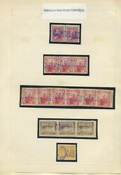 Large Lot Of 15 Hawaii Stamps With Kahului Railroad Straight Line Cancels