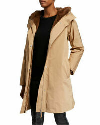 Lafayette 148 New York Sinclair Mink Fur Hooded Detachable Coat Xl Nwt Sold Out