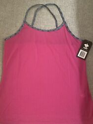 Rabbit Running Criss Cross Women's Running Tank Top Shirt Pink Size Large $10.00