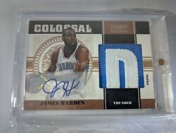 2010-11 National Treasures Colossal Patch Auto James Harden 3/5