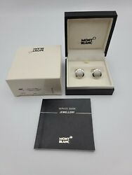 Mont Blanc Cufflinks Mens | Contemporary Collection | Model 30490 | Silver