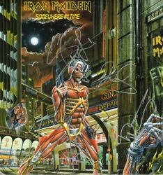 Iron Maiden Signed Autographed Somewhere In Time Lp Vinyl Bruce Dickinson X4