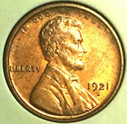 1921-s 1c Pure Brown Lincoln Wheat Cent