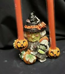 Morgue Sale Halloween Fitz And Floyd Gypsy Witch Candleholder Retired Mint