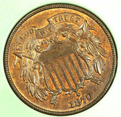 1870 2c Nice Color Must Two Cent