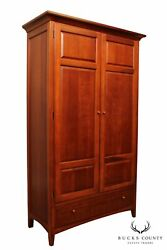Thomasville And039impressionsand039 Cherry Bedroom Armoire Cabinet A
