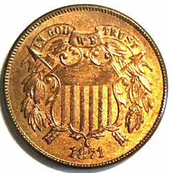 1871 2c Nice Color Must Two Cent