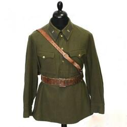 Vintage Original Soviet Russian Tunic Captain Of Infantry Red Army 1941 Ussr