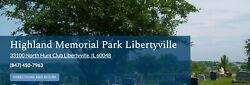 2 Cemetery Plots Highland Memorial Park Libertyville Il 2500 For Both.