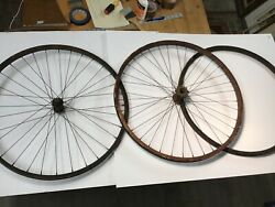 Barn Find Antique Wooden Bicycle Rims Set 3 Total