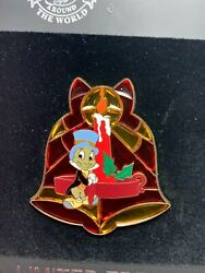 Disney Pin - Jiminy Cricket - Pinocchio - Stained Glass Christmas Holiday Bell