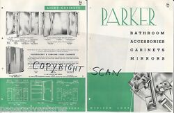 1948 Parker Bathroom Cabinets Mirrors Side Lights Wings Access. Vintage Catalog