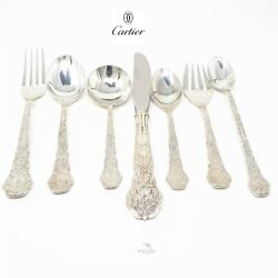 Nyjewel Sterling Silver Gold Plated Fork Knife Spoon Silverware Set 435g