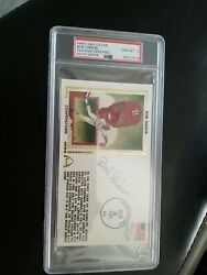 Bob Gibson Signed First Day Cover Psa/dna 10 Auto St. Cardinals Hofer Card Stamp