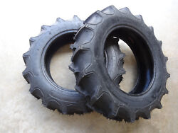 Two 6-14 Regency G1 Garden Tractor Lug Tires 4 Ply Tl Traction Field And Road
