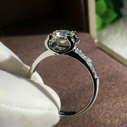 Gorgeous Women 925 Silver Wedding Rings Jewelry White Sapphire Rings Size 6 10 $2.08