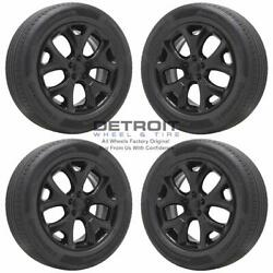 18 Jeep Compass Gloss Black Wheels Rims And Tires Oem Set 4 2018-2020 9191