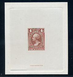 Scott Rb14p1 Proprietary Large Die Proof Stamp On India Paper Rb14-1