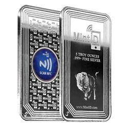5 oz MintID Buffalo Silver Bar .999 Fine NFC Scan Authentication $170.82
