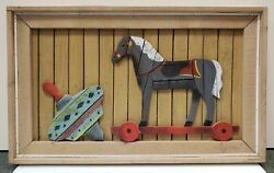 Vintage 1970's Theodore Degroot Child's Toys Wood Lath Art