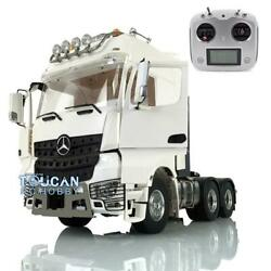 1/14 Metal Lesu Tractor Truck Rc 66 Chassis Light Radio Hercules Actros Cabin