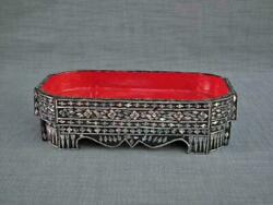Antique Thai Mother-of-pearl Inlaid Buddhist Offering Tray Thailand 19th Century