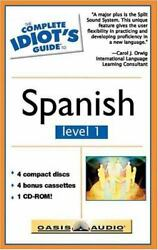 The Complete Idiots Guide To Spanish - Level I With Cdrom And Cassettes Compl