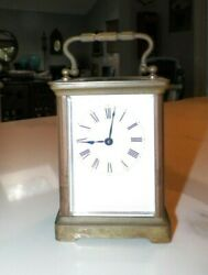 Vintage Made In France Carriage Clock Beveled Glass 4 Tall