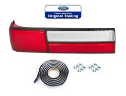 1987-1993 Mustang Lx Oem Left Lh Tail Light Taillight Lens W/ Clips And Sealer