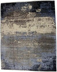 Abstract Design Hand Knotted Modern 8x10 Area Rug Oriental Home Decor Carpet